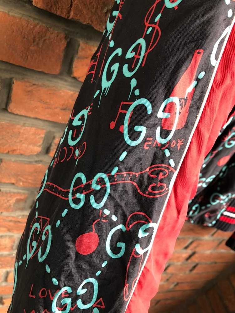 Gucci Gucci Ghost Silk Bomber - image 8