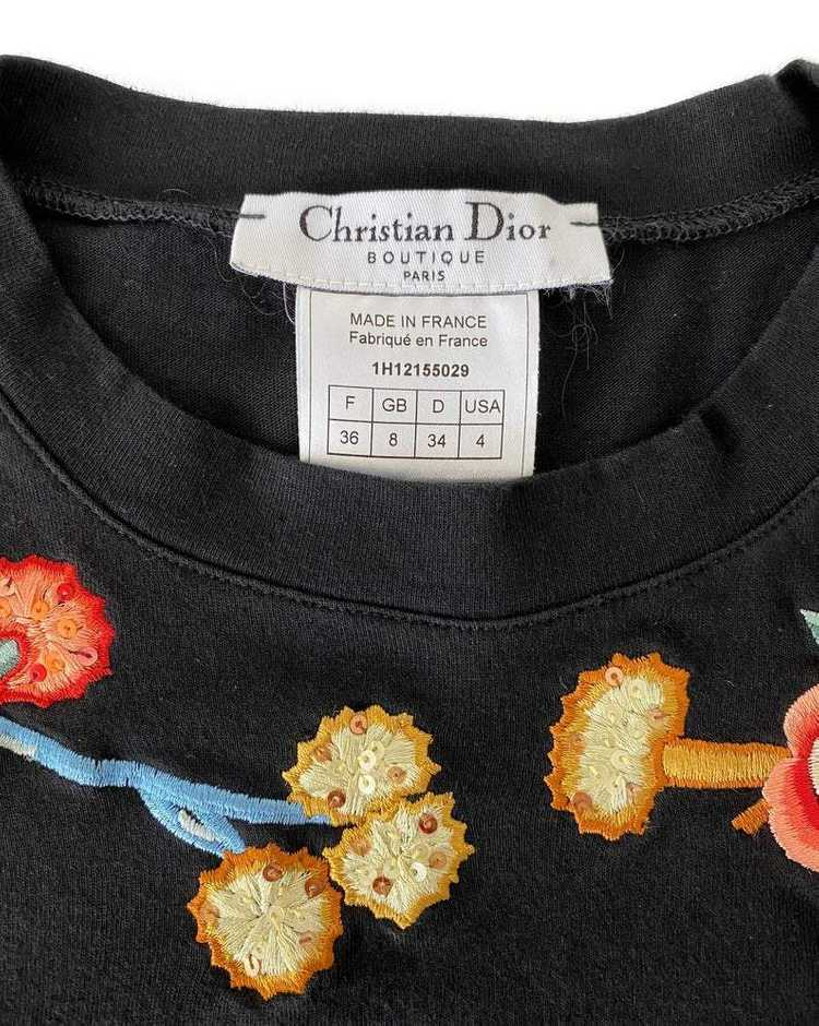 Christian Dior J'adore Dior Asian Embroidered T-S… - image 3