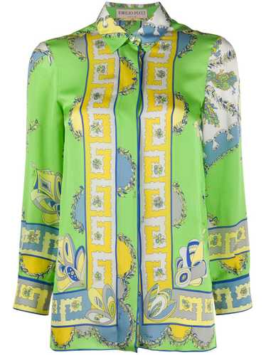 Emilio Pucci Pre-Owned abstract print shirt - Gree