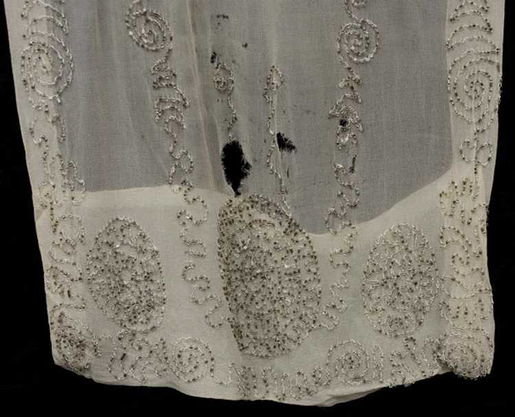 Beaded silk chiffon tunic, 1920s - image 4