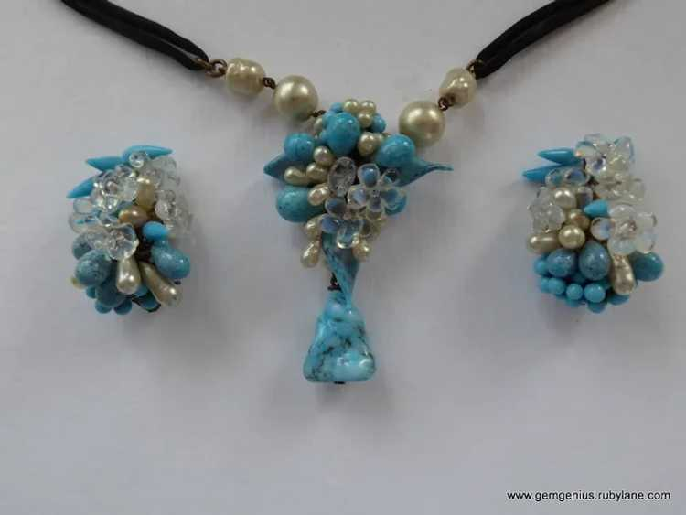 Rousselet Necklace and Earring Set - image 3