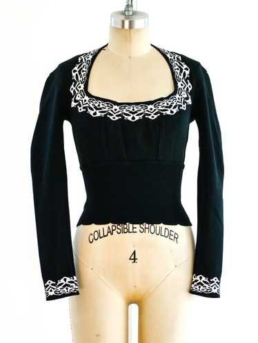 Alaia Intarsia Knit Top