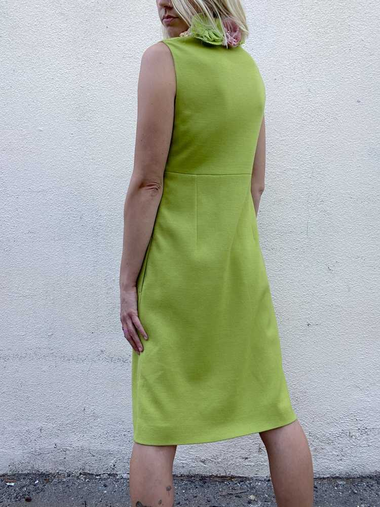 Vintage Moschino Chartreuse Dress - image 4