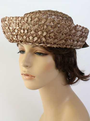 1950's Clover Lane Womens Boater Hat