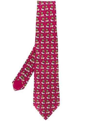 Hermès Pre-Owned '2000s cow print tie - Red