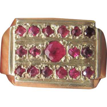Sterling Silver  Multi Ruby Unisex Ring - image 1