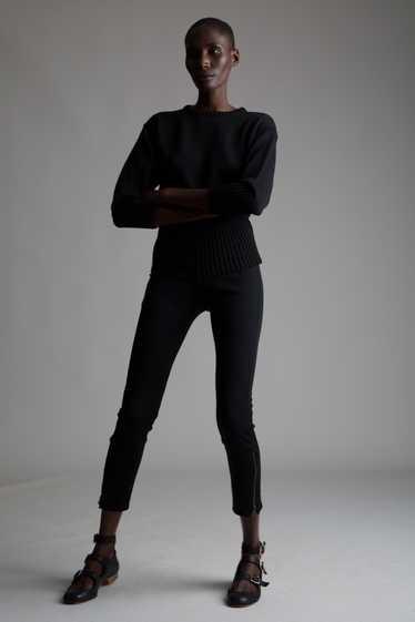 Black Wool Leggings