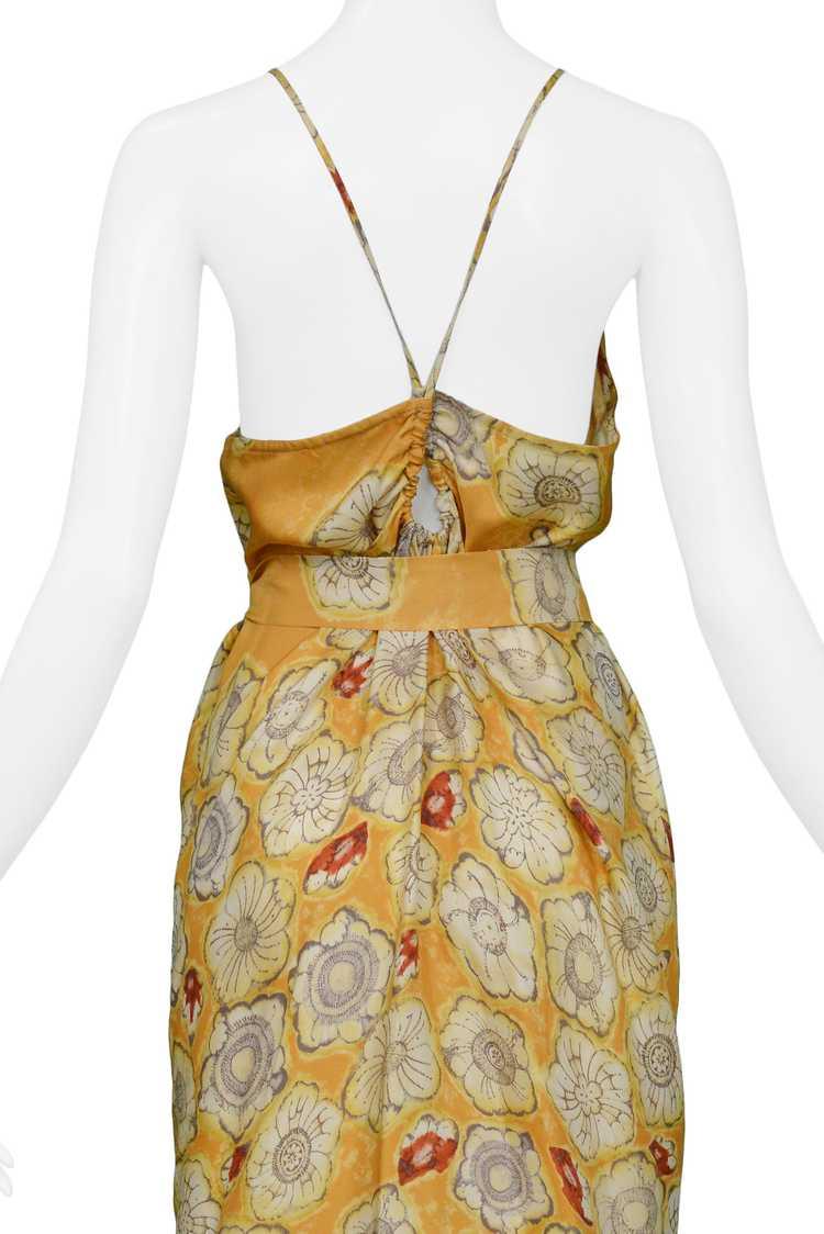 DRIES YELLOW GOLD FLORAL SLIP DRESS & SASH - image 4