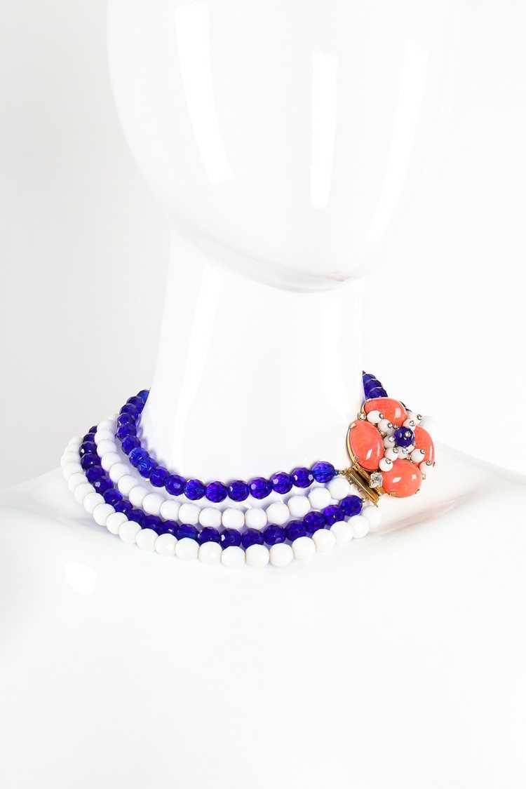 ARNOLD SCAASI Multi-Strand Cabochon Bead Collar - image 4