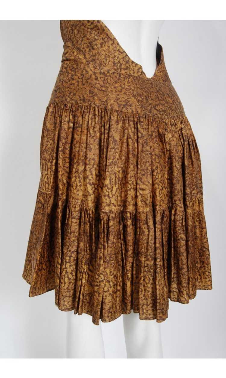 1987 Azzedine Alaia Documented Golden Print Silk … - image 10
