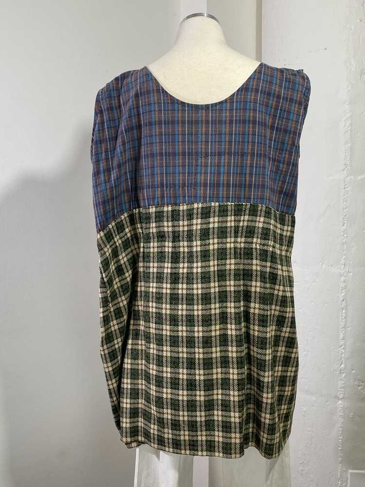 1960s-70s French Patchwork Peasant Dress - Lg. - image 9