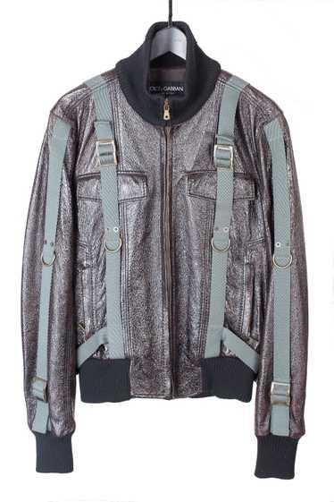 AW03 Blistered Leather Bondage Jacket
