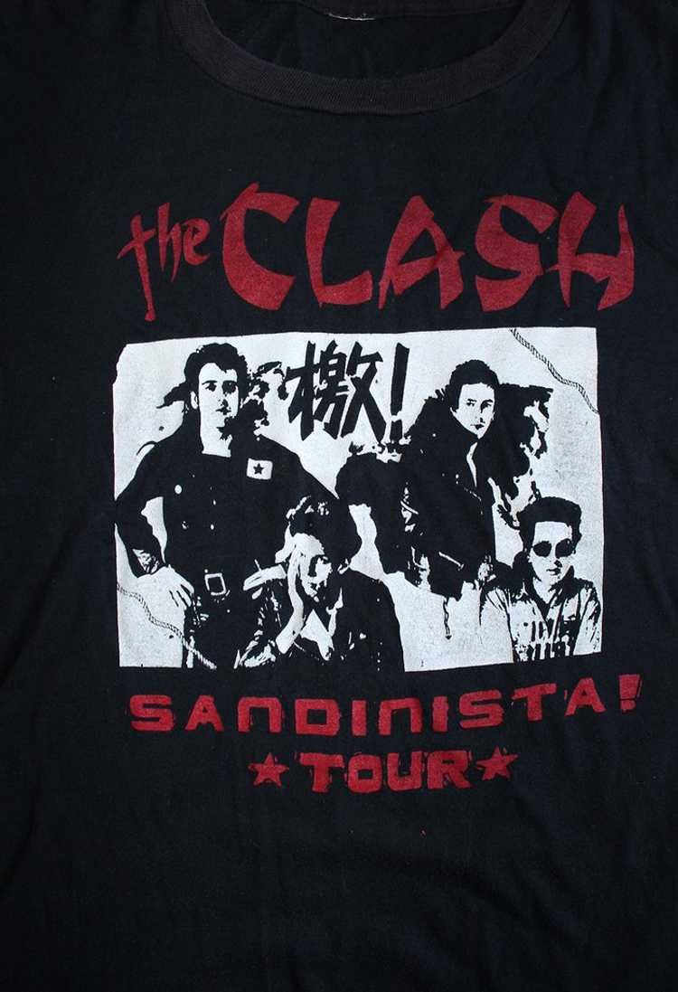 Vintage 80's The Clash Sandinista Tour T-Shirt - image 3