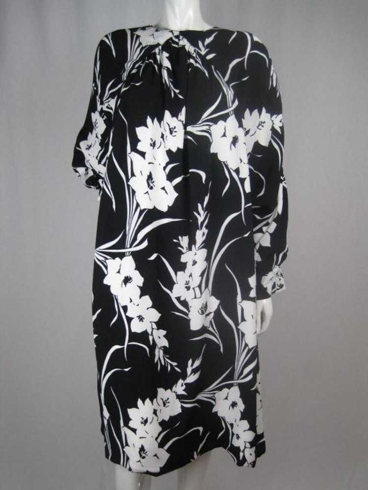1980's Dress Graphic Floral Vintage - image 4