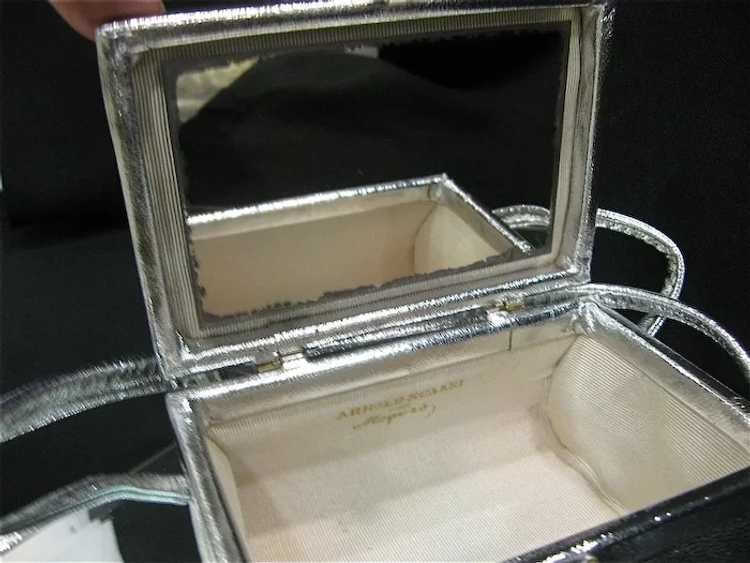 Arnold Scaasi Silver Studded Evening Bag - image 7