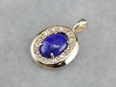 Lapis Lazuli Halo Pendant