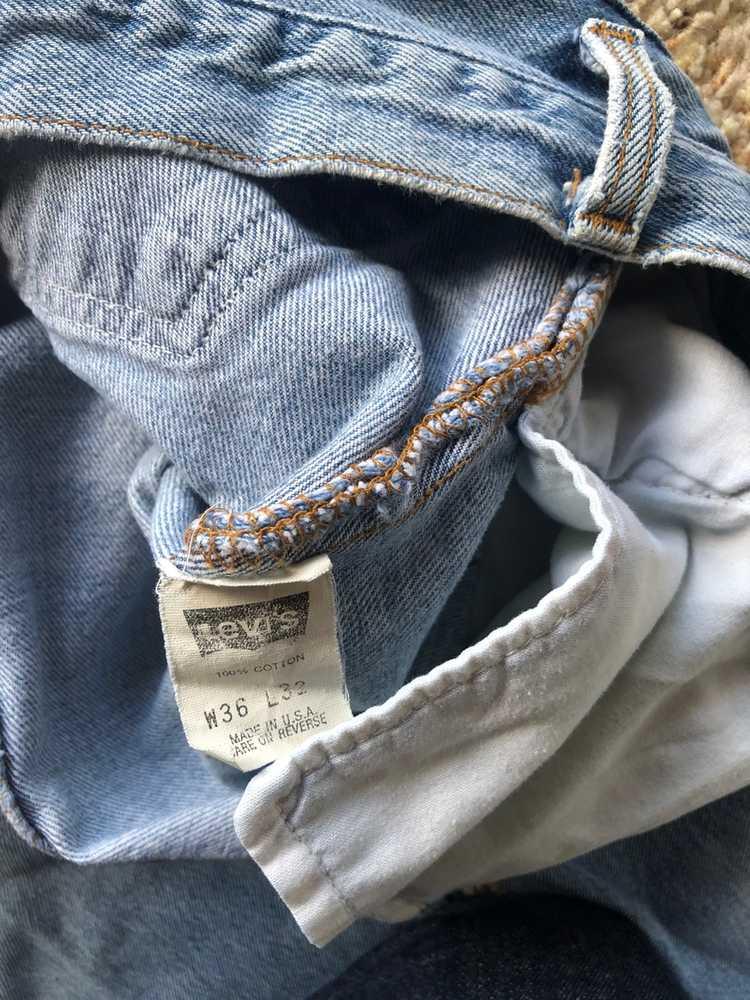 Levi's × Made In Usa × Vintage Vintage 90s Distre… - image 5