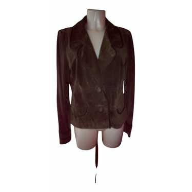 Max Mara Green Suede jacket for Women 48 IT