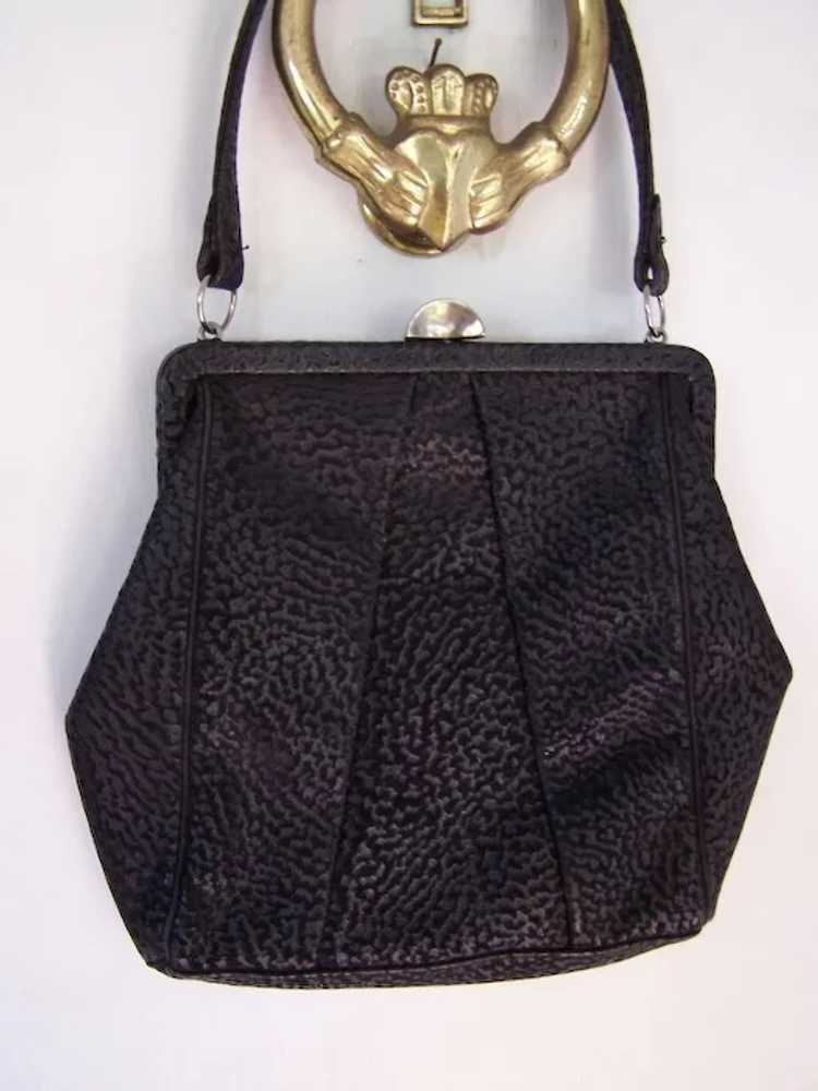 Town and Country Black Leather Handbag - image 3