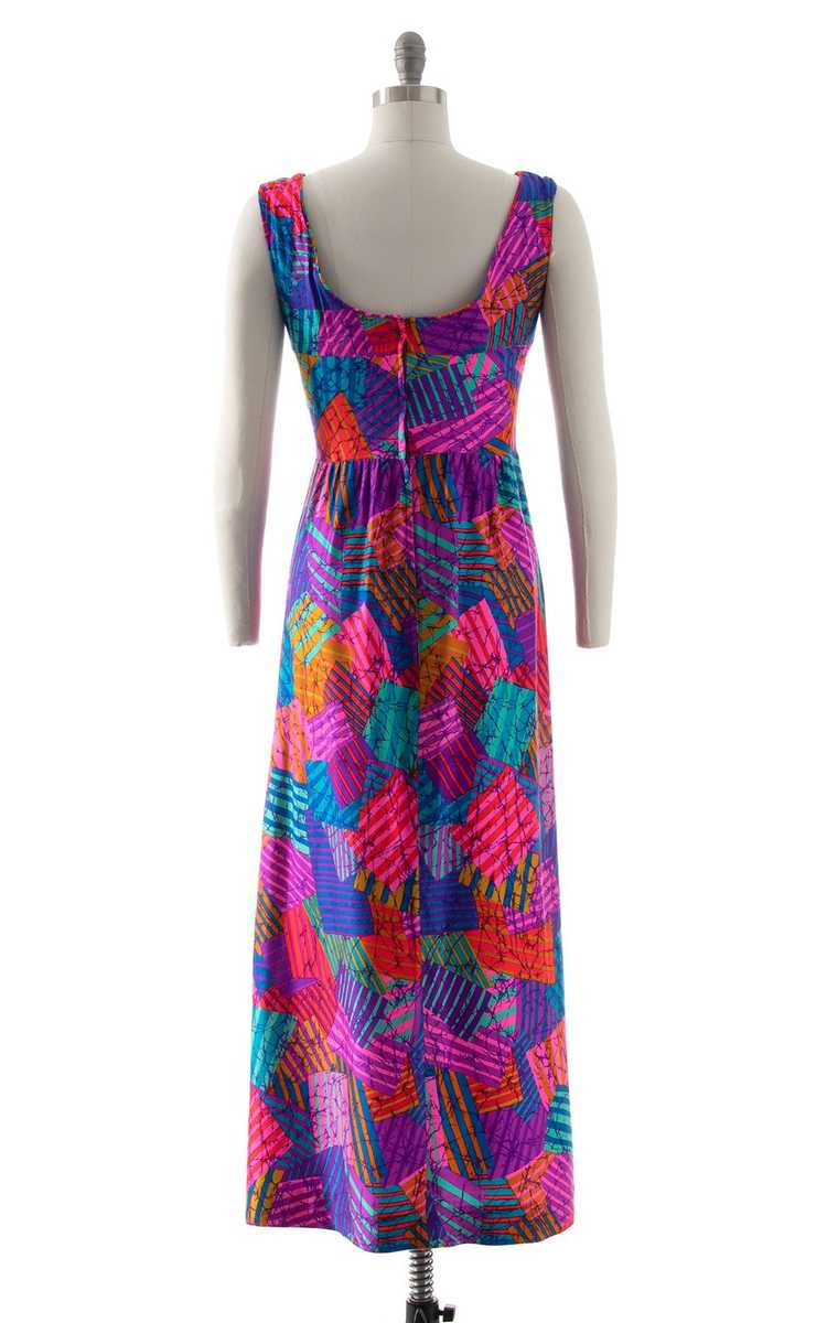 NEW ARRIVAL || 1960s 1970s Neon Patchwork Maxi Dr… - image 4