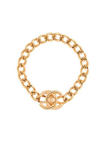 Chanel Pre-Owned 1996 CC turn-lock bracelet - GOLD - image 1
