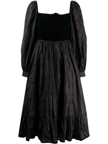 Valentino Pre-Owned 1970s square neck dress - Blac