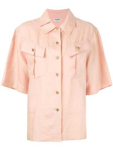 Chanel Pre-Owned pleated collar shirt - Neutrals