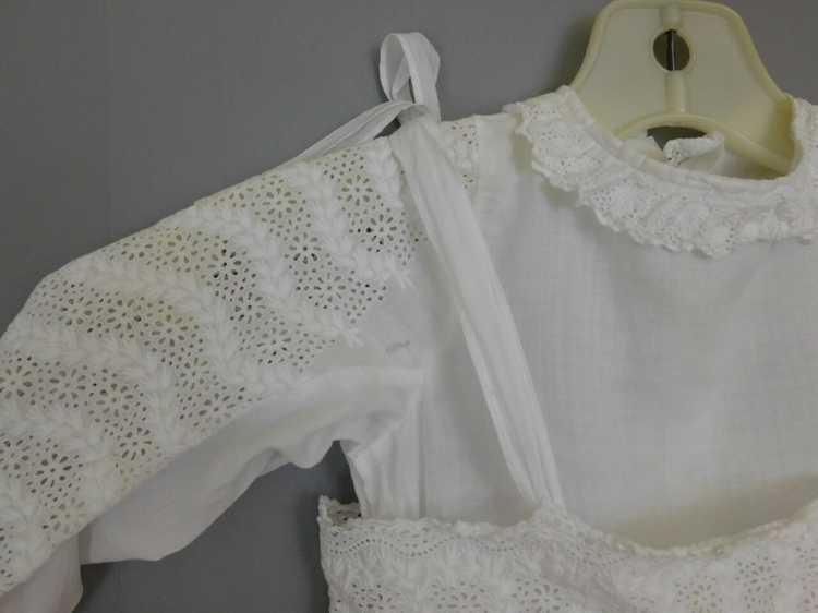 Antique Edwardian Little Girl Dress, Embroidered … - image 6