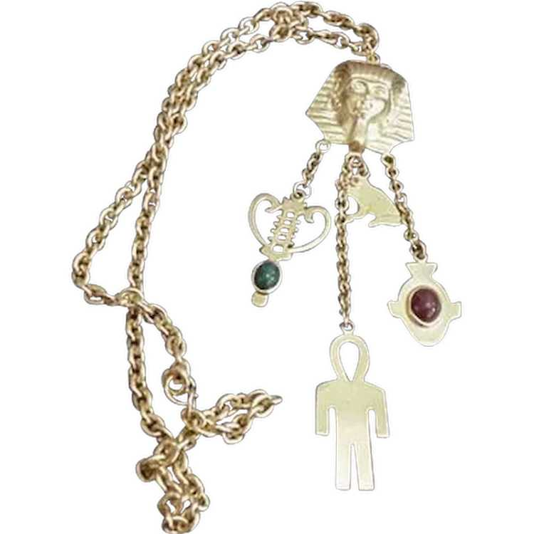 Egyptian Revival Necklace - image 1