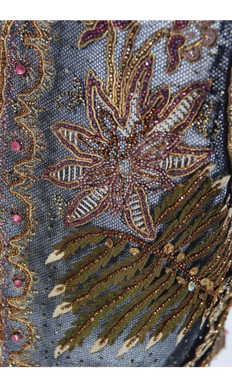 1910 Edwardian Antique Embroidered Beaded Floral … - image 6