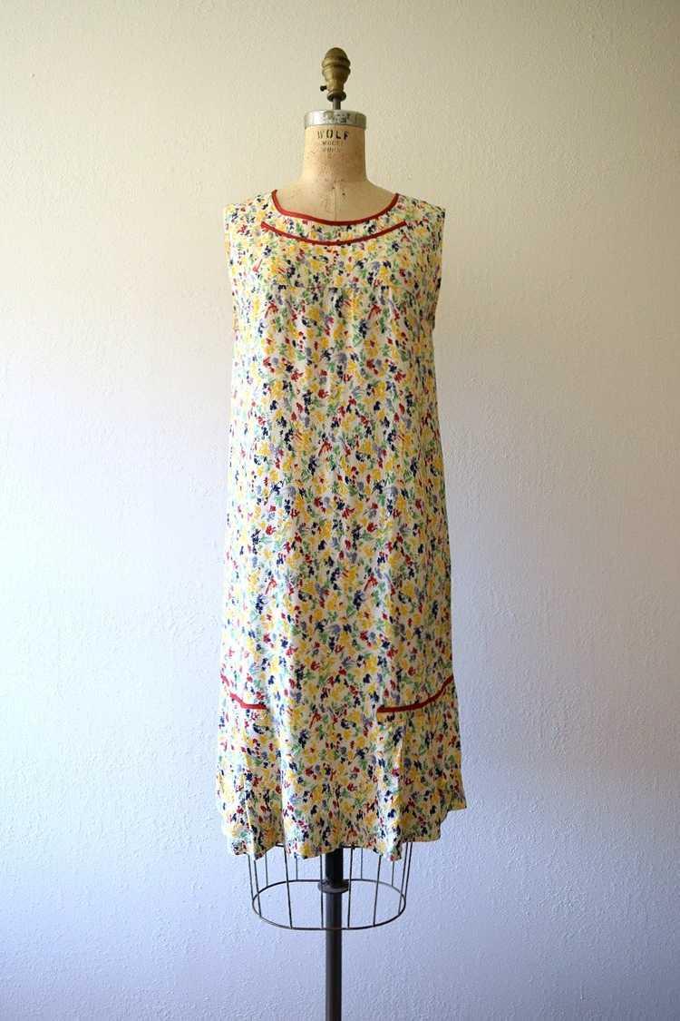 1920s rainbow print dress . vintage 20s dress - image 3