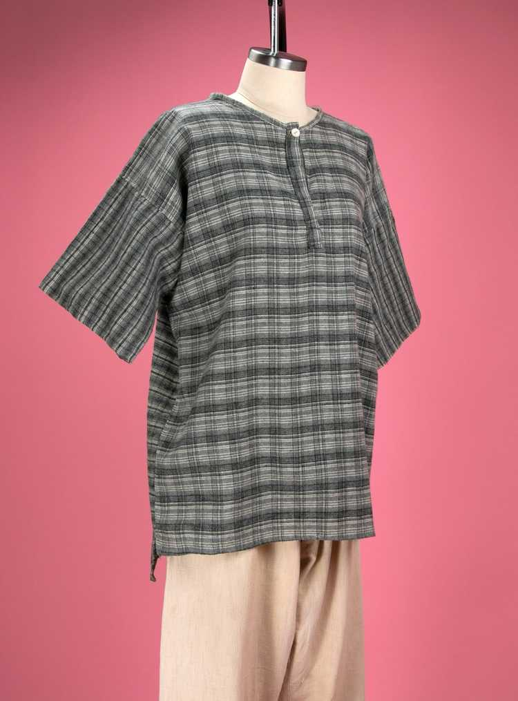 Antique / Early Vintage 1910's - 20's Grey Flanne… - image 7