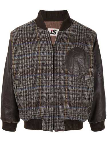 Issey Miyake Pre-Owned 1980's chest logo plaid bom