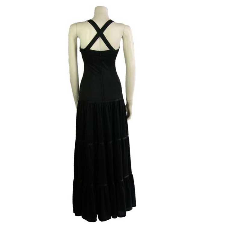 Vintage Black Radley Dress 1970s - image 4