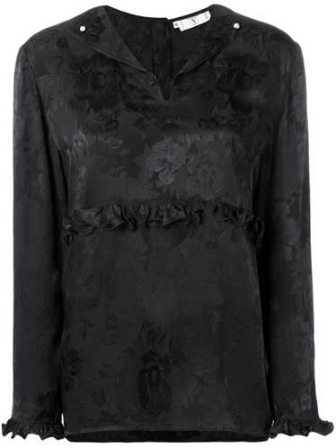 Valentino Pre-Owned 1980's rose print blouse - Bla