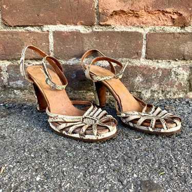 1940's Snakeskin Heels