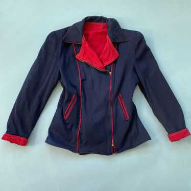 1940s Navy & Red Reversible Ski Jacket