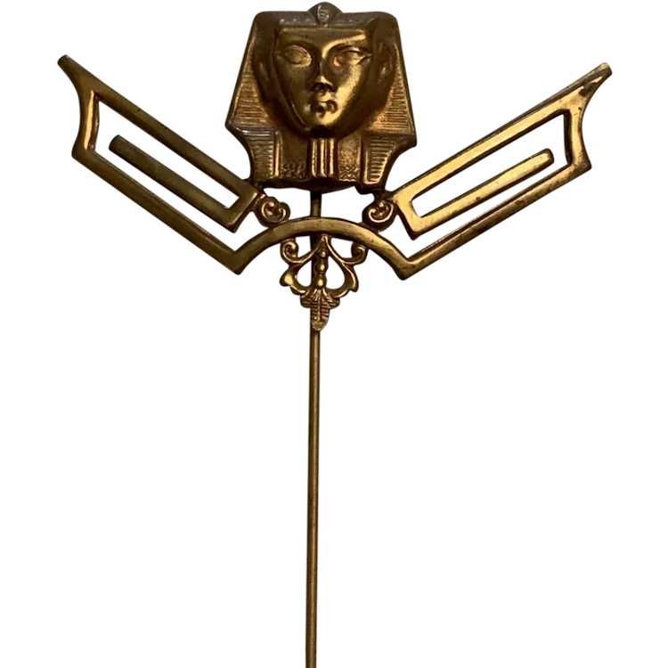 Egyptian Revival Hat Pin - image 1