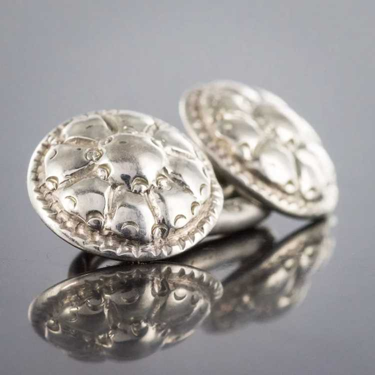 French 18th Century Sterling Silver Cufflinks - image 10