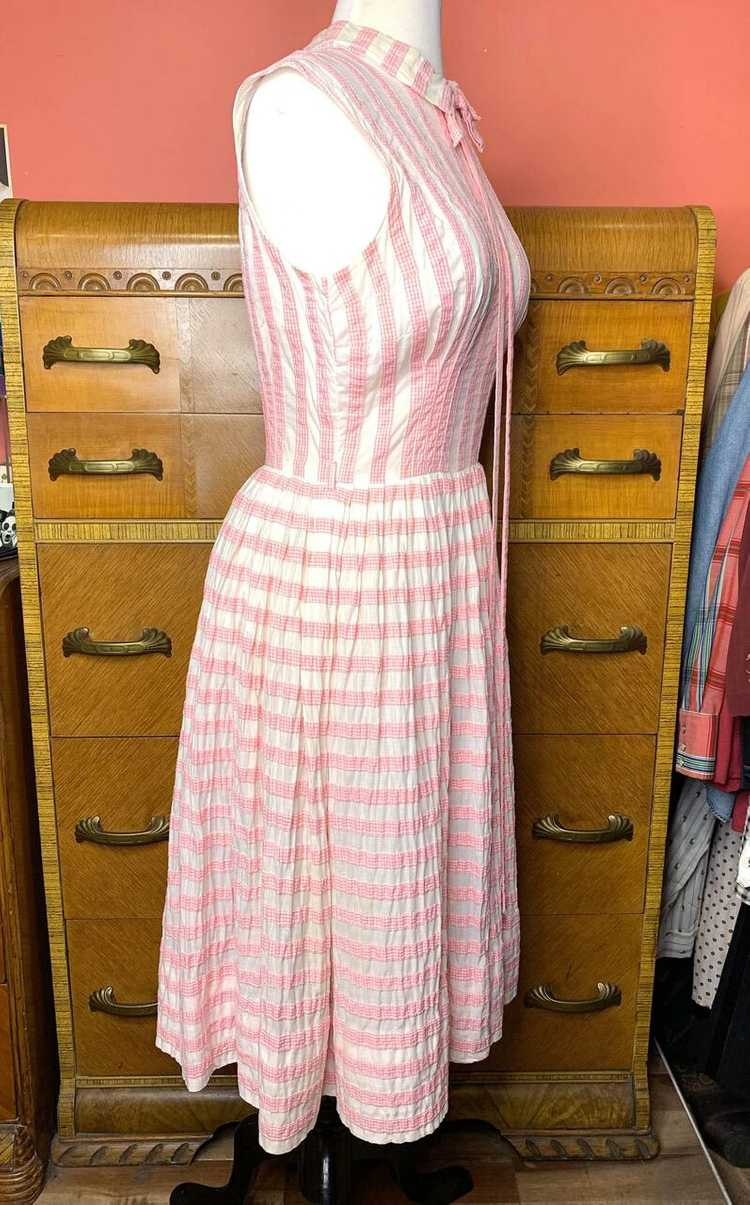 1950s Suzy Perette Pink Gingham Dress - image 4