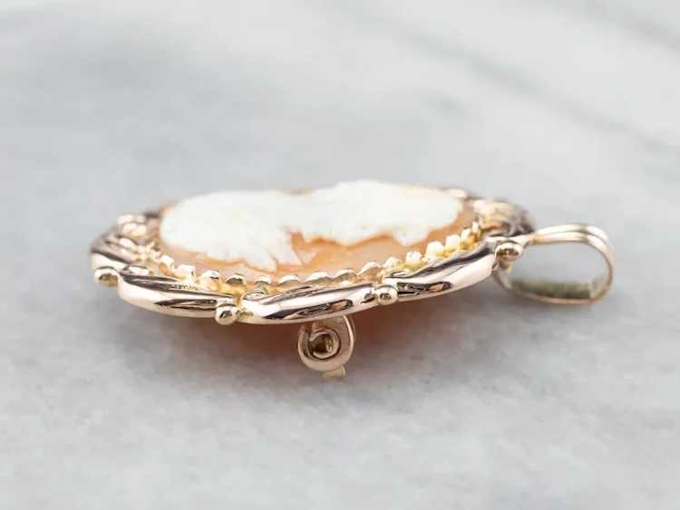 Mid Century Cameo Pendant or Pin - image 4