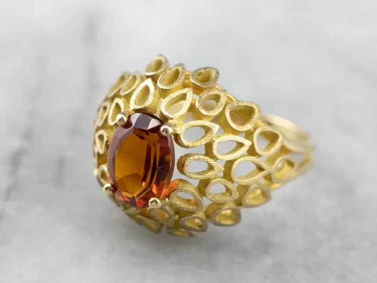 Funky Citrine Statement Ring - image 3