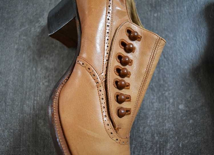 Edwardian shoes . antique leather shoes - image 4