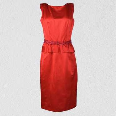 Vintage Late 1950s Suzy Perette Red Cocktail Dress