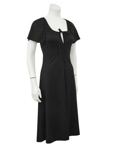 Clovis Ruffin Black Keyhole Dress
