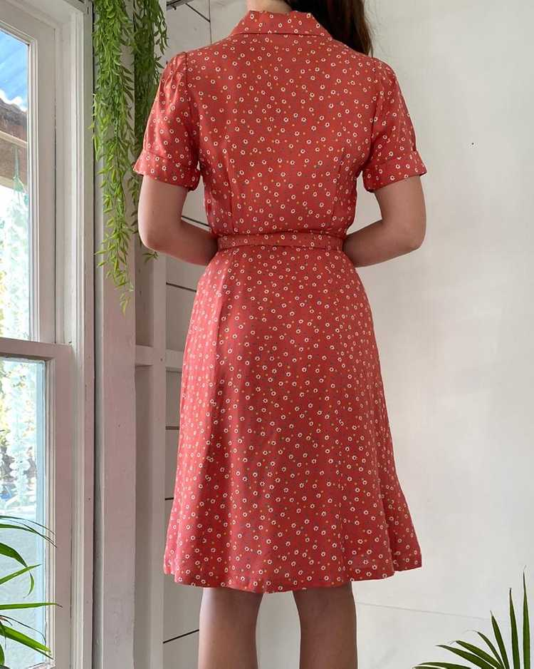 40s Floral Rayon Dress - image 6