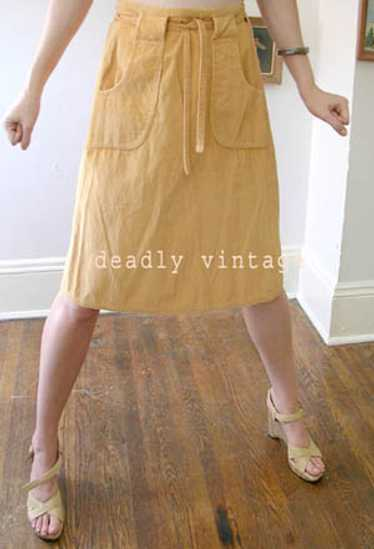 Wide-wale cord wrap-skirt