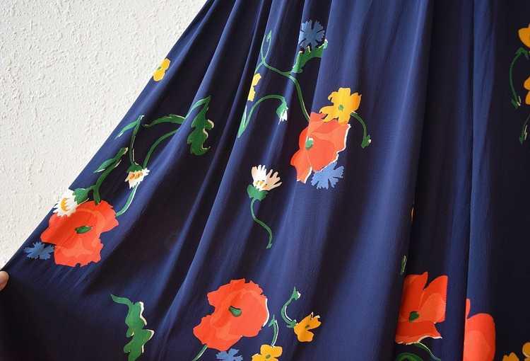1940s rayon dress . vintage 40s floral print dress - image 5