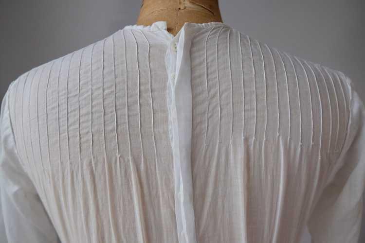 Edwardian Embroidered Batiste Cotton Lawn Dress - image 8