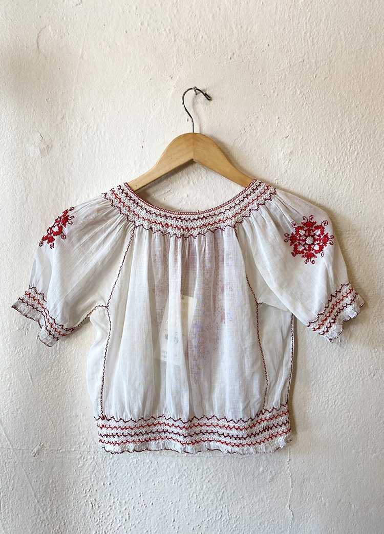 1930's Hungarian Embroidered Blouse - image 4